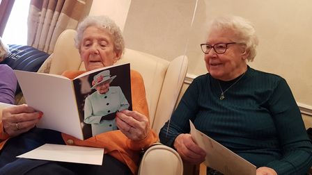The 100-year-old received a birthday card from the Queen Picture: RACHEL EDGE
