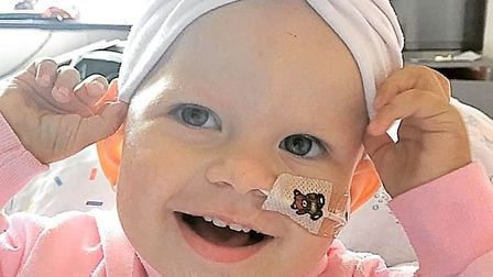 Ireland Banham, who is fighting stage four neuroblastoma Picture: SUPPLIED BY FAMILY