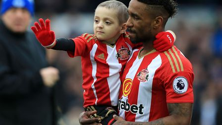 Bradley Lowery, who died in 2017, was good friends with Sunderland's Jermain Defoe Picture: Peter By