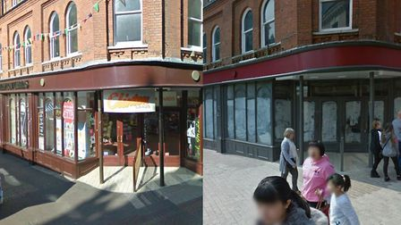 Then and now in Westgate street, Ipswich Picture: GOOGLEMAPS