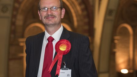 Labour's parliamentary candidate for Ipswich, Sandy Martin, spoke in favour of Oliver Campbell in th