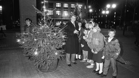 Bobby Robson signed autographs for all the fans as he switched on the Christmas lights at Tower Ramp