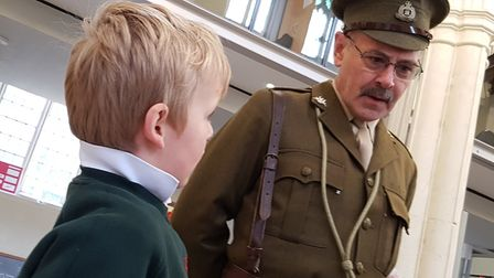 The children learn about the life of the fictional character Captain Douglas Nicholls Picture: RAC