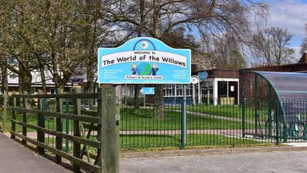 The Willows Primary School in Downing Close, Ipswich, has sent pupils home after a sick bug swept th