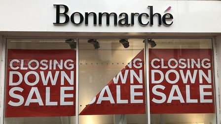 A closing down sale is currently taking pace at the store in Westgate Street, Ipswich, while adminis