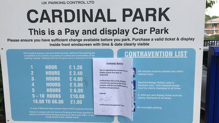 Cardinal Park car park in Ipswich, previously run by UK Parking Control, is now run by Euro Car Park