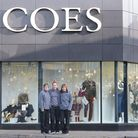 The team at Coes have nearly finished their Christmas windows. There is just one more to reveal. L-