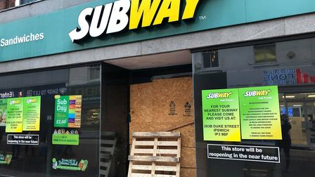 The Subway store in Carr Street has displayed signs hinting of a reopening for months Picture: NAT