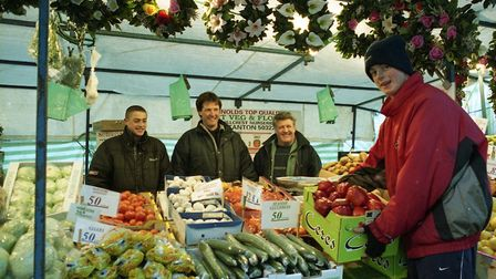 Market day in Bury St Edmunds, in December 1999 Picture: ANDY ABBOTT