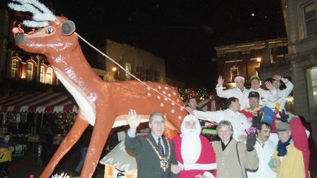 The Ipswich Round Table Rudolph float has thrilled children for many, many years. Here it is on Ipsw