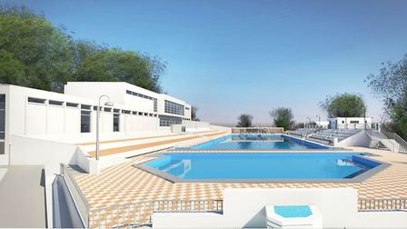Imression of the new Broomhill pool. Picture: KLH Architects