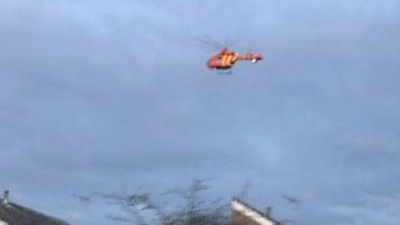 An air ambulance has been called to an incident on Belstead Road, Ipswich. Picture: CONTRIBUTED