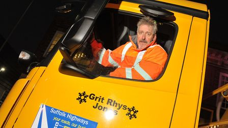 Griff Rhys Jones with the gritter that has been named after him outside The Regent Picture: Archant