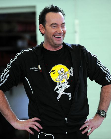 Craig Revel Horwood works with pupils at St Louis Middle school in Bury St Edmunds in 2009. Photo: