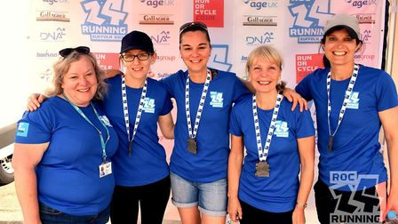 The Age UK Suffolk Team at ROC24 2019. Picture: RUN OR CYCLE EVENTS