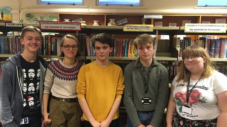 Northgate students from left to right: Jonathan Coulson, Thea Pettitt, Joshua Farrell, Alex Heasman-