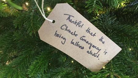 Many heartfelt messages have been left on the Copleston High School gratitude tree. Picture: ANDREW