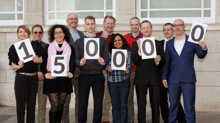 The team at Inform Direct celebrating their customer milestone Picture; KEITH MINDHAM