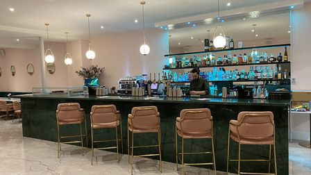The Bloom Lounge has been kitted out with modern decor and flowers. Picture: THE BLOOM LOUNGE