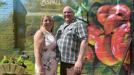 Landlords of the Swan and Hedgehog, David and Amanda Fisher Picture: SARAH LUCY BROWN