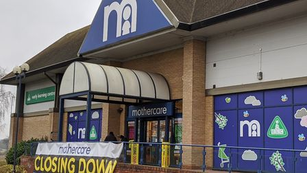 Mothercare at Copdock Interchange will close its doors this week. Picture: ARCHANT
