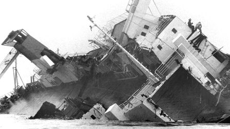 A story that dominated the news for three months started in December 1982 when two ships collided ab