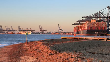 A ballot begins on Christmas Eve which could widen strike action at the Port of Felixstowe Picture: