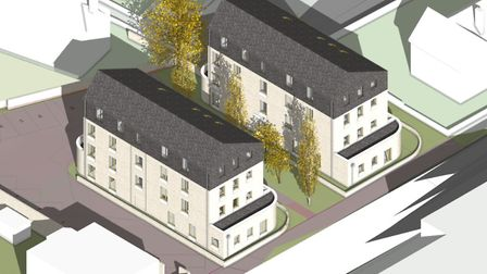 An architects impression of the 16 new flats due to be built in Grimwade Street in Ipswich. Picture: