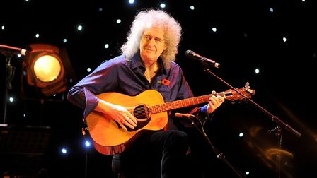 Brian May was at the Regent Theatre in Ipswich last year for a performance of We Will Rock You Pict
