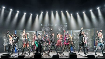 The cast of We Will Rock You. Picture: JOHAN PERRSON