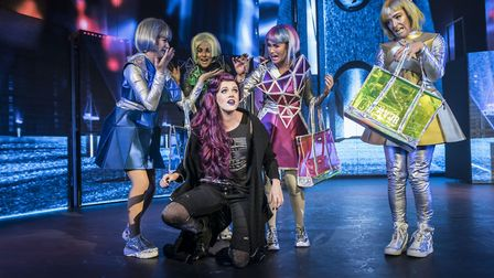 Elena Skye as Scaramouche in We Will Rock You. Picture: Johan Persson