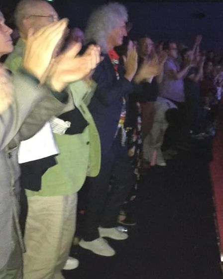 Brian May was in the audience of the first Ipswich We Will Rock You. Picture: MATTHEW JAMES FRIEND
