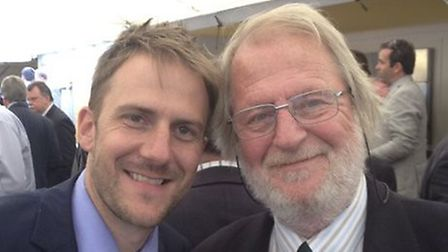 Olly Magnus with late dad, Paul, who founded Blakenham-based logistics operation Magnus Group Pictu