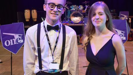 Noah Wood and Amber Aldous at One Sixth Form College concert Picture: JOHN NICE