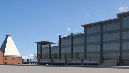 An architect's impression of the new Coalyard development planned for Chancery Road in Ipswich. Pict