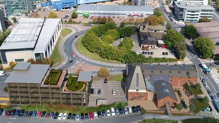 An architect's impression of the new Coalyard development planned for Chancery Road in Ipswich showi