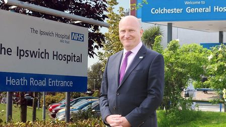 Nick Hulme is chief executive of the East Suffolk and North Essex Foundation Trust Picture: ARCHANT