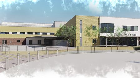 Architect's impression of the new Ipswich Hospital A&E building Picture: KLH ARCHITECTS