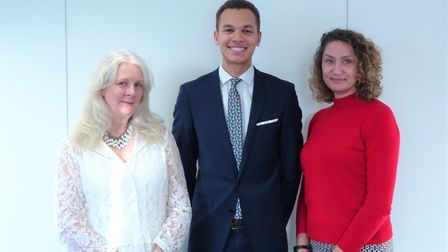 Sue Gull, Jordan Holder and Caroline Cotterell as Scrutton Bland becomes a Cornerstone Employer Pic