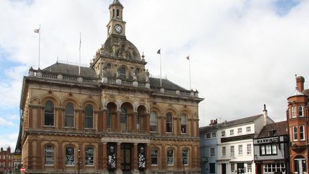 The EU flag atop Ipswich Town Hall will be replaced from January 31. Picture: JOHN NORMAN