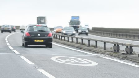 The Orwell Bridge is covered by a Met Office yellow weather warning for wind on Tuesday, January 14