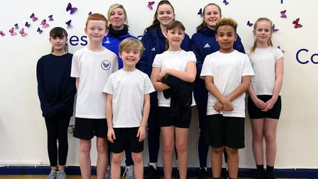 Ipswich Town women's players and coaching staff visited Martlesham primary for a Q and A and joined