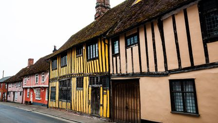 Multi-coloured houses in Lavenham Picture: GETTY IMAGES/ISTOCK