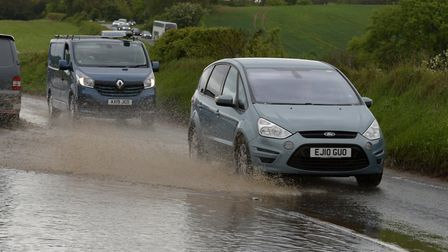 Suffolk police are closing The Strand after a woman became trapped in floodwater (STOCK PHOTO) Pic