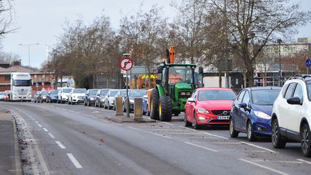 Orwell Bridge closures cause serious traffic problems all over Ipswich. Picture: SARAH LUCY BROWN