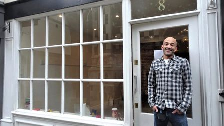 Shop owner Andrew Marsh outside the property on Ipswich's Dial Lane PICTURE: The Ipswich Society