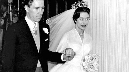 Princess Margaret and Antony Armstrong-Jones leave Westminster Abbey after their wedding in the spri