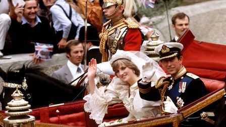 When the magic was still strong... Prince Charles and Princess Diana on their way to Buckingham Pala