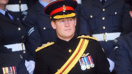 Prince Harry at RAF Honington in 2014 Picture: GREGG BROWN