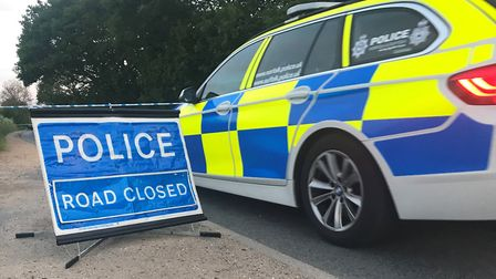 Police are at the scene of the collision in Foxhall Road, near its junction with Bell Lane (stock im